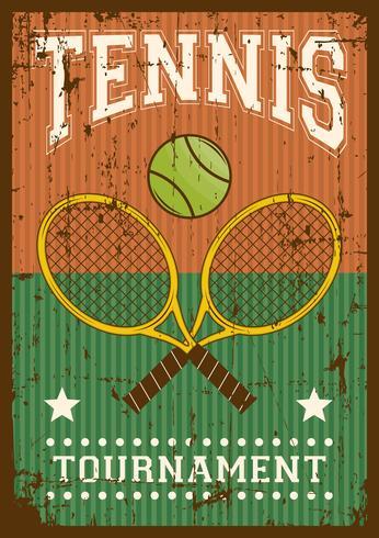 tennis sport retro popkonst affisch skyltning vektor