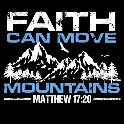 Tro kan flytta bergen vektor