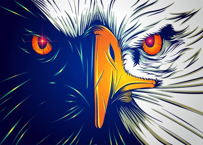 Kraftfullt Eagle Face vektor