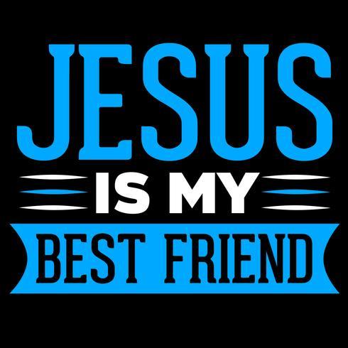 Jesus är min bästa vän vektor