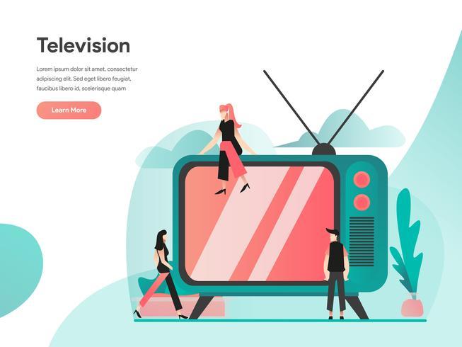 Television Illustration Concept. Modernt plandesignkoncept av webbdesign för webbplats och mobilwebbplats. Vector illustration EPS 10