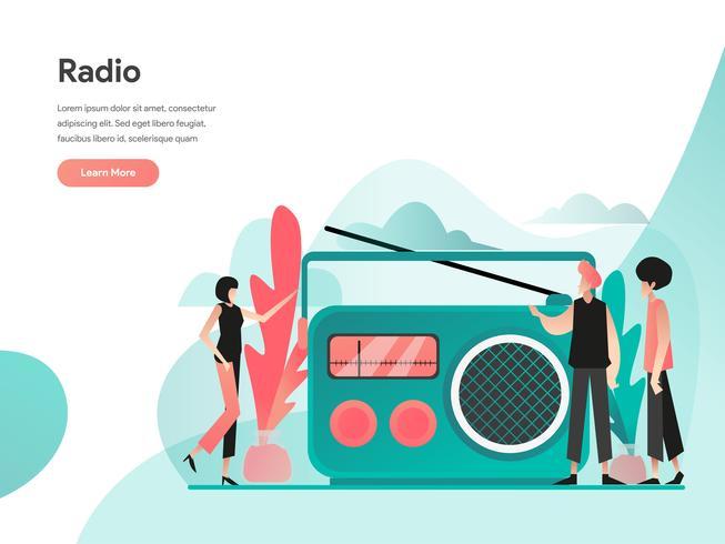 Radio Illustration Konzept. Modernes flaches Konzept des Entwurfes des Webseitenentwurfs für Website und bewegliche Website Vektorillustration ENV 10 vektor
