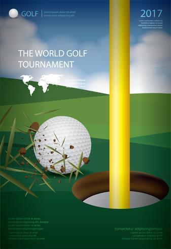 affisch golf mästerskap vektor illustration