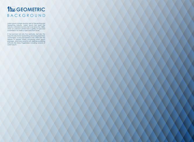 Abstrakt fyrkantig rand linje blå geometrisk bakgrund, vektor