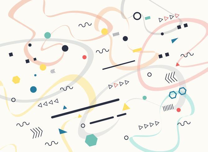 Zusammenfassung des geometrischen freien Formmusterhintergrundes des Entwurfs. vektor