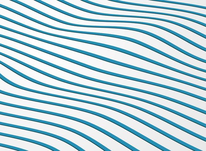 Abstraktes gewelltes Muster der Streifenlinie Ozeanhintergrund. vektor