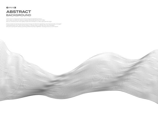 Auszug des wellenförmigen Elements für Auslegung. Wellenlinienmuster mit Linien, die mit dem Mischwerkzeug erstellt wurden. vektor