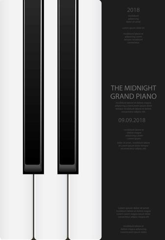 Musik-Flügel-Plakat-Hintergrund-Schablonen-Vektorillustration vektor