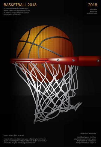 Basketball-Plakat-Werbungs-Vektor-Illustration vektor