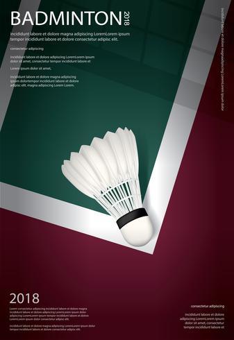 Badminton-Meisterschafts-Plakat-Vektorillustration vektor