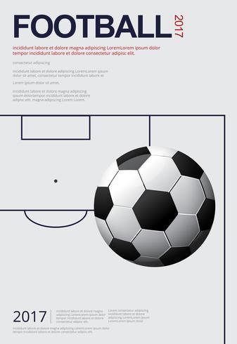 Fußball-Fußball-Plakat Vestor Illustration vektor