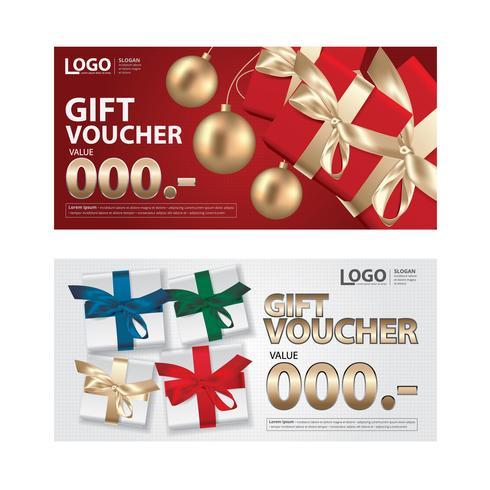 Geschenkgutschein-Kupon-Schablone für Ihre Geschäfts-Vektor-Illustration vektor