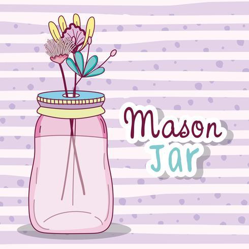Masonburk med blommor vektor