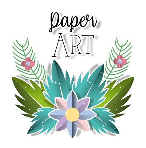 Papper konst landskap vektor
