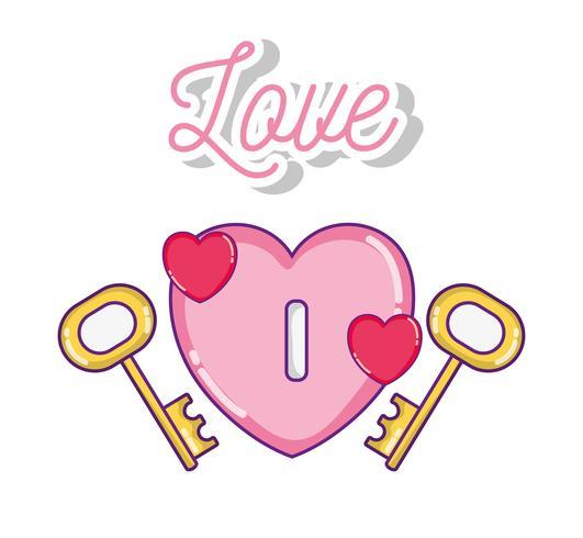 Söt kärleksteckningar vektor