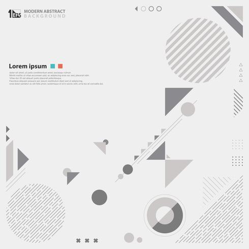 Grauer Farbton des abstrakten modernen Designs des geometrischen Zusammensetzungshintergrundes. vektor