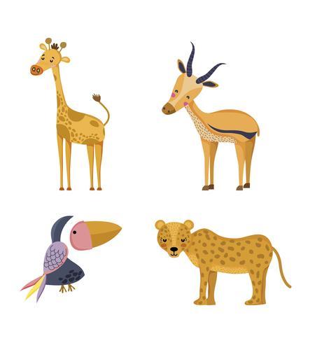 Set wilde Tiere vektor