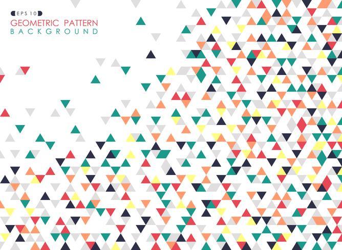 Zusammenfassung des geometrischen Muster-Abdeckungshintergrundes des bunten Dreiecks. vektor