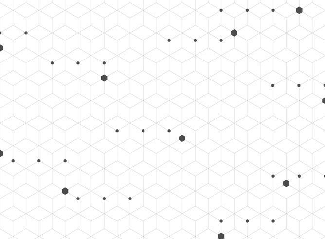 Zusammenfassung des geometrischen Hintergrundes des modernen grauen Pentagonmusters. vektor