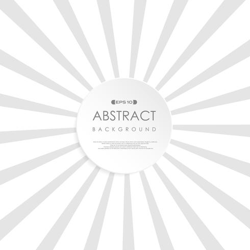 Abstrakter sonniger Explosionshintergrund des grauen Weiß. Retrostil der Kopienraum-Kreisform in der Mitte. Verwendung für Broschüre, Poster präsentieren. vektor