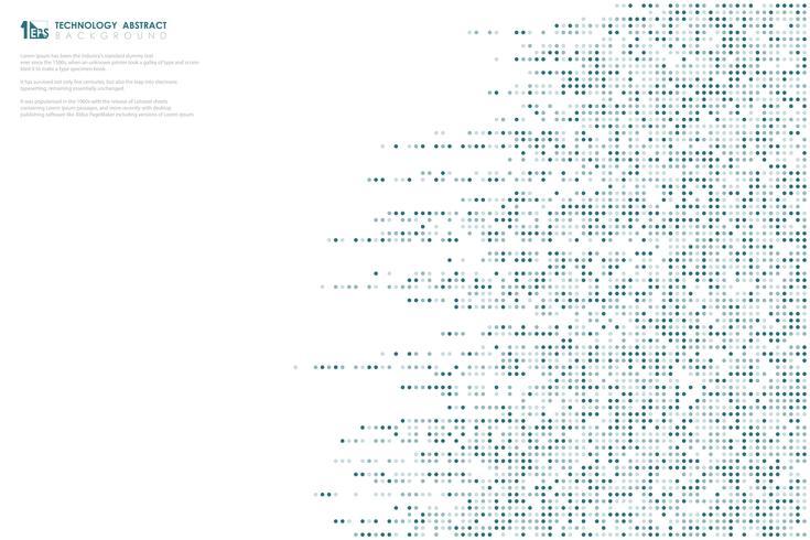 Abstrakt blå prickmönster stor datateknik linje mönster design täcka bakgrund. illustration vektor eps10