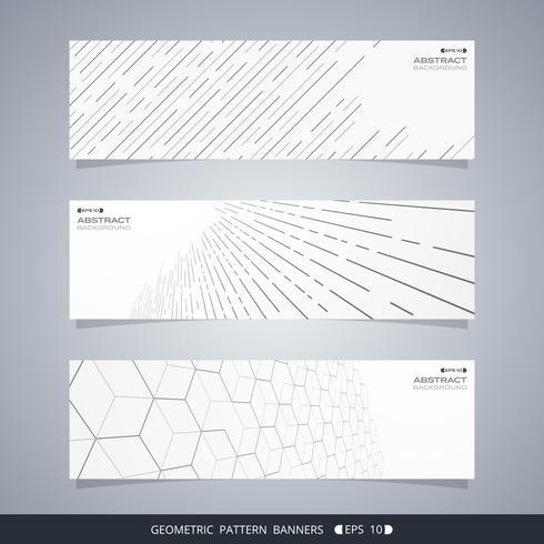 Zusammenfassung der modernen geometrischen Linie Fahnen. vektor