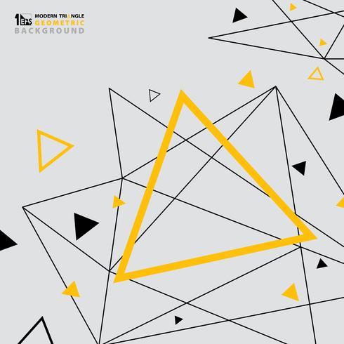 Abstrakt modern triangelmönster design av futuristisk bakgrund gul svart. vektor