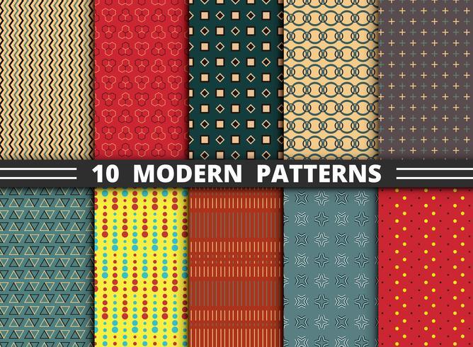 Abstraktes modernes stilvolles Designmuster des geometrischen bunten Satzhintergrundes. vektor