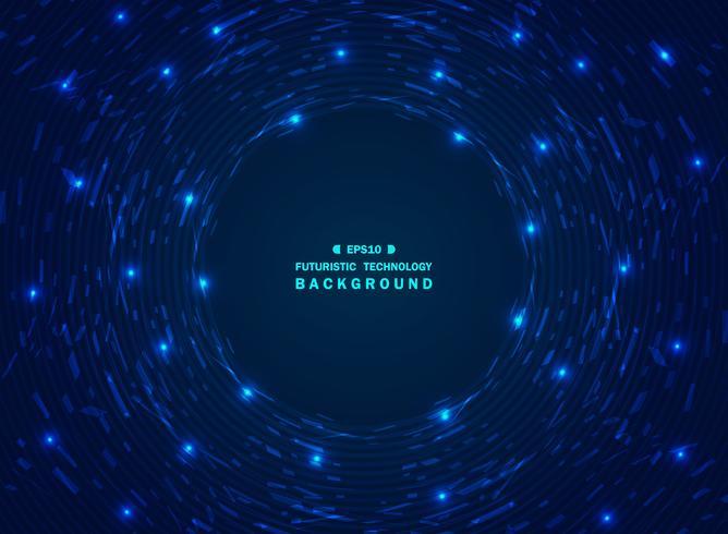 Blauer Technologiehintergrund der futuristischen Steigung des Chaos des geometrischen Musters. vektor