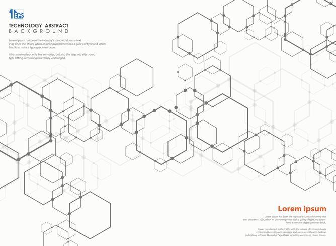 Abstraktes futuristisches des Musters des modernen Designs des Technologiepentagons. vektor