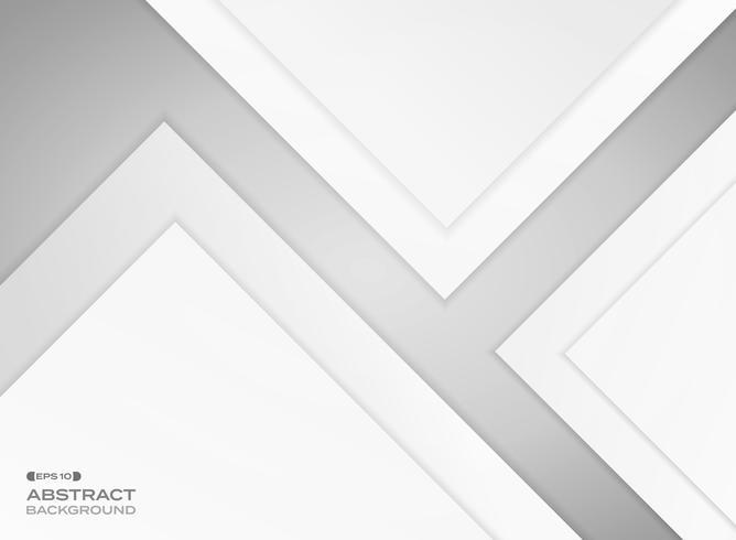 Gradient grå papper skärs bakgrund med skugga. vektor