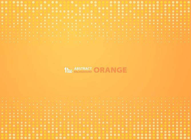 Abstrakt gradient orange färg med cirklar halvton design bakgrund. illustration vektor eps10