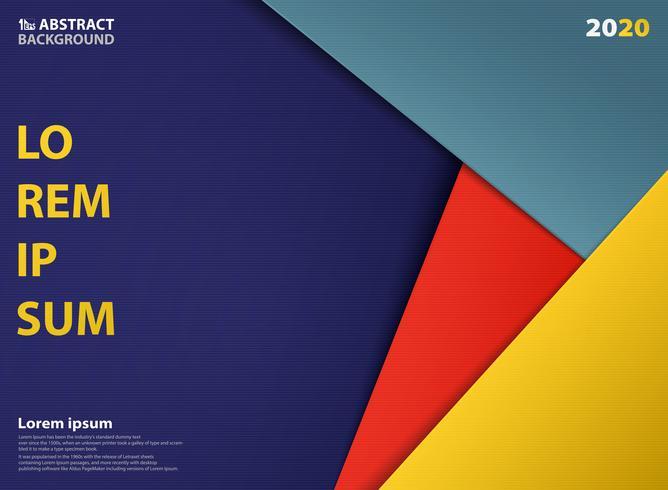 Abstrakt färgstarka pappersslip mall design av dekoration bakgrund. llustrationsvektor eps10 vektor