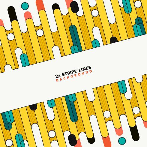 Abstrakt färgrik tech stripe linje av nya omslag design bakgrund. illustration vektor eps10