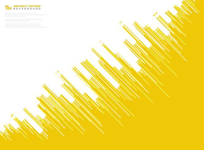 Abstrakte gelbe Vektorstreifenlinie Musterdesign-Technologiehintergrund. Abbildung Vektor eps10
