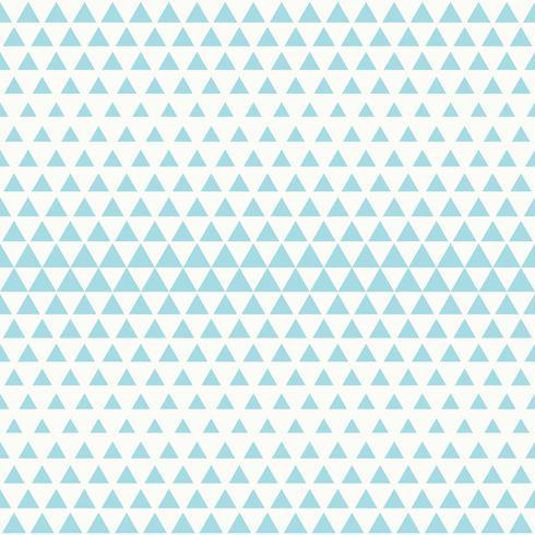 Nahtloses Design des blauen Dreieckmusters der abstrakten Technologie auf weißem Hintergrundvektor. Abbildung Vektor eps10