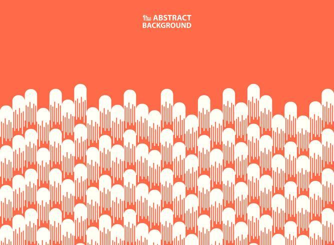 Abstrakt rosa levande korallfärg med randlinje dekorationsbakgrund. illustration vektor eps10