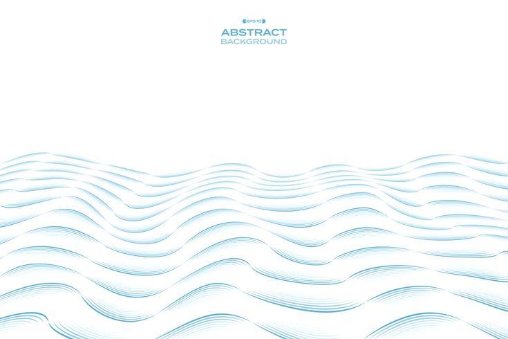 Abstrakt blå himmel linje vågigt mönster design av havs bakgrund. illustration vektor eps10