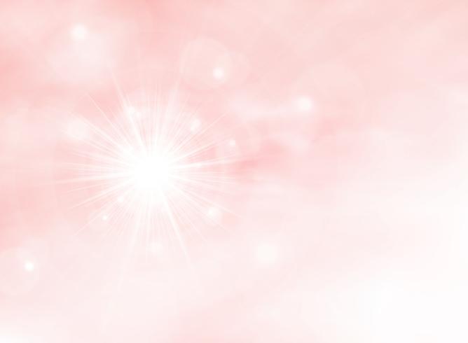 Abstrakt sommar sunburst på rosa levande korallfärg bakgrund. Dekorera i solig dag av natur scenen konstverk. Du kan använda för affisch, presentation, omslag. vektor