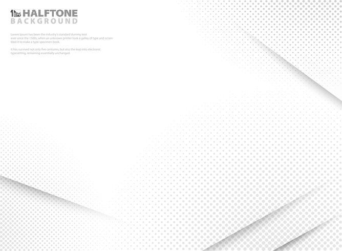 Abstrakt modern halvton av gradient vit och grå bakgrund. vektor