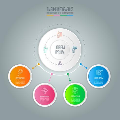 infografisk design affärsidé med 4 alternativ. vektor