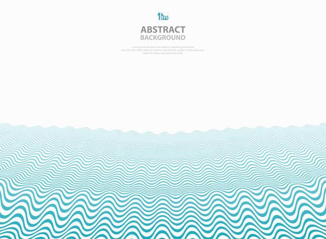 Abstrakt blå vågigt mönster rand linjer havs havet bakgrund. vektor