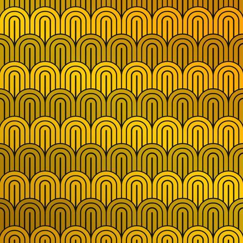 Gelbes und schwarzes Muster des abstrakten Luxussenfs des Kreismusterhintergrundes. Sie können für Werbung, Druck, Cover-Design verwenden. vektor