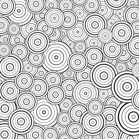 Abstrakte Kreisschwarzlinie Musterdesign-Dekorationshintergrund. Sie können für Abstraktionsgrafik, Druck, Gestaltungselement, Abdeckung verwenden. vektor
