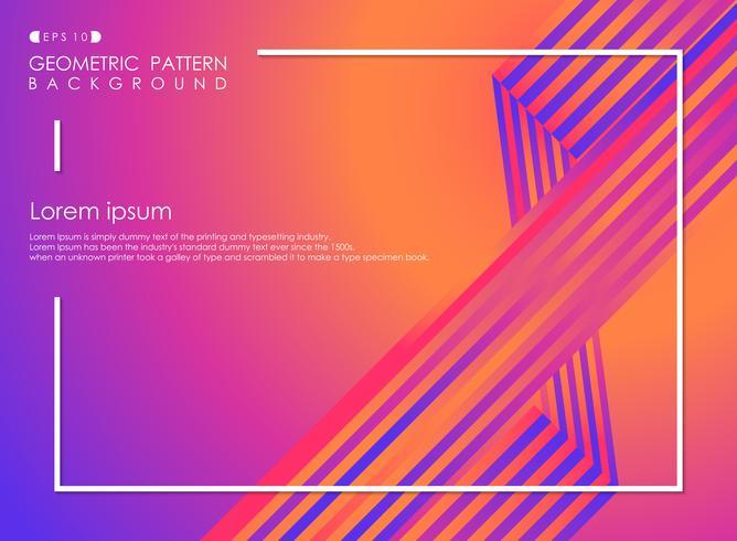 Bunter geometrischer Hintergrund mit Streifenlinie Musterabdeckung. vektor