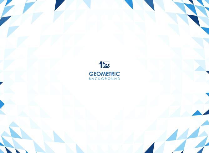 Maschenmuster des geometrischen Hintergrundes des blauen Dreiecks. vektor