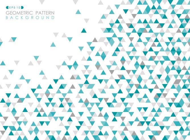 Zusammenfassung des geometrischen Muster-Abdeckungshintergrundes des blauen Dreiecks. vektor