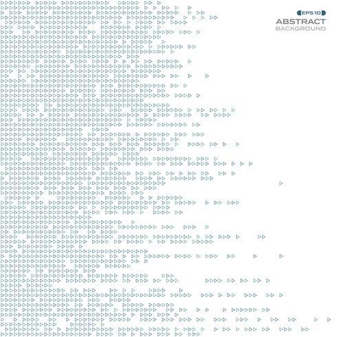 Zusammenfassung der blauen Dreiecktechnologielinie Musterhintergrund. vektor