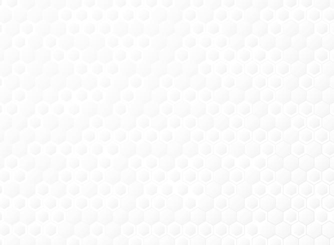 Abstraktes sechseckiges Steigungsweiß des Technologieschablonen-Hintergrundvektors. Abbildung Vektor eps10