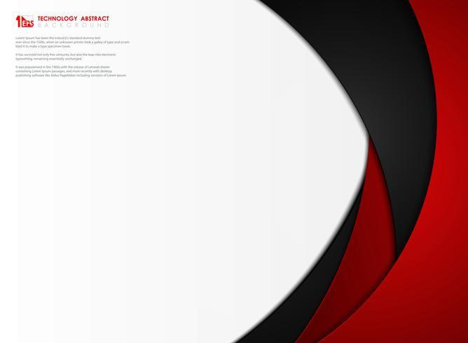 Abstrakt gradient röd och svart tech mall bakgrund vektor design. illustration vektor eps10